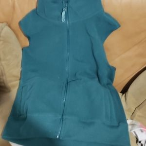 Teal fleece vest